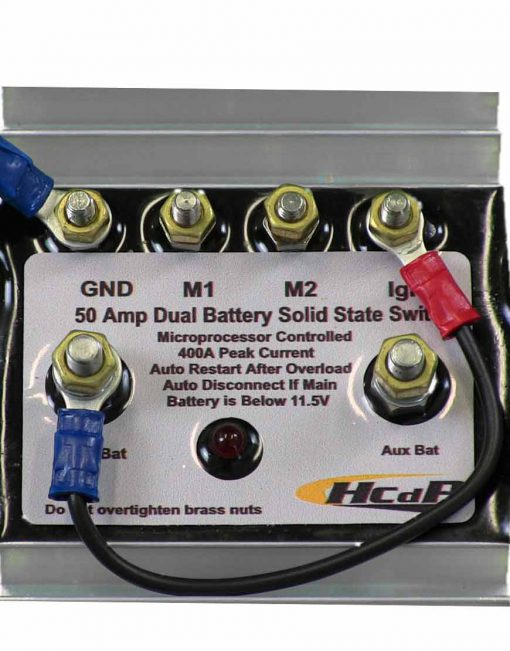 Dual Battery Solid State Switch close up