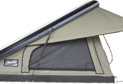 Black Series Clamshell Roof Top Tent Black Series -Open Side View