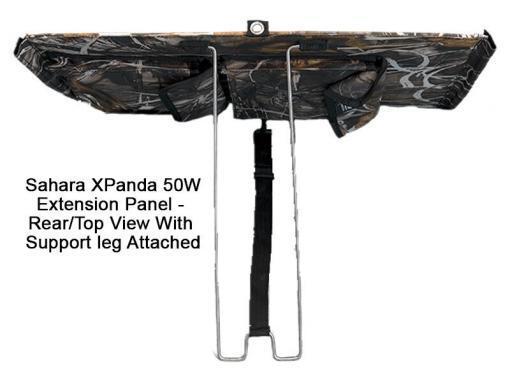 Sahara XPanda Panel 50W Extension Panel Rear Top View