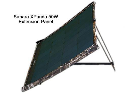 Sahara XPanda Panel 50W Extension Panel Side View