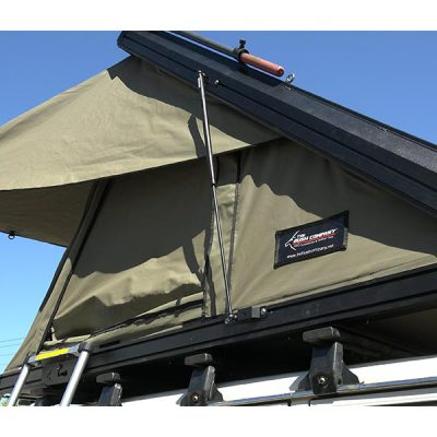 Clamshell Roof Top Tent - ALPHA - exterior view side
