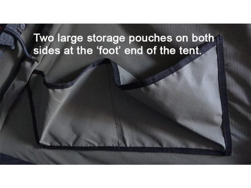 Clamshell Roof Top Tent - ALPHA - side storage pouches