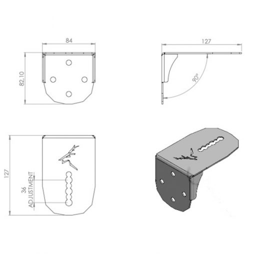 Light Bar Bracket Dimensions