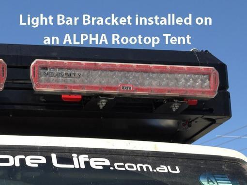 Light Bar on an ALPHA Rooftop Tent