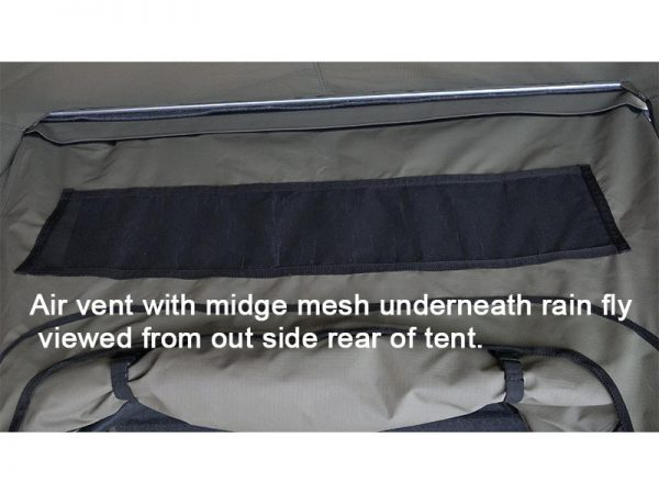 ALPHA Clamshell Rooftop Tent Air vent outside view