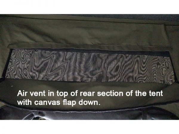 ALPHA Clamshell Rooftop Tent Air vent with flap down