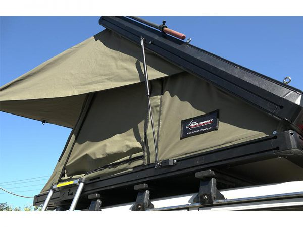 ALPHA Clamshell Rooftop Tent External View Side