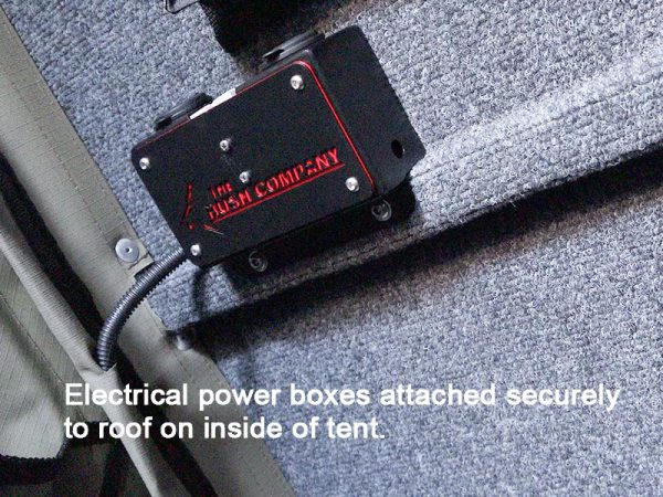 ALPHA Clamshell Rooftop Tent Electric box socket bottom view