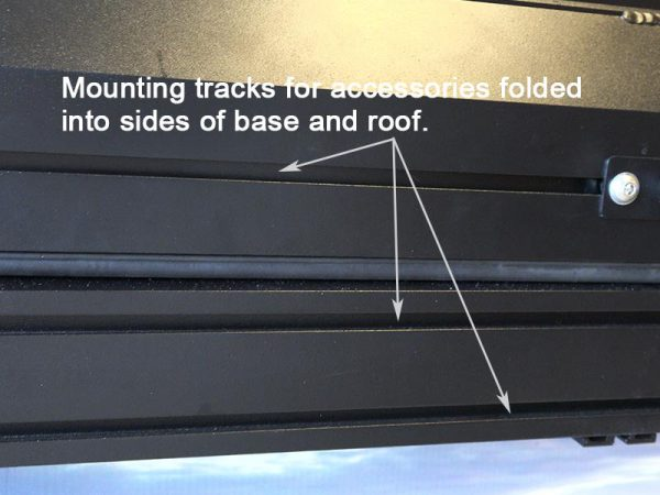 ALPHA Clamshell Rooftop Tent Mounting tracks in roof and base