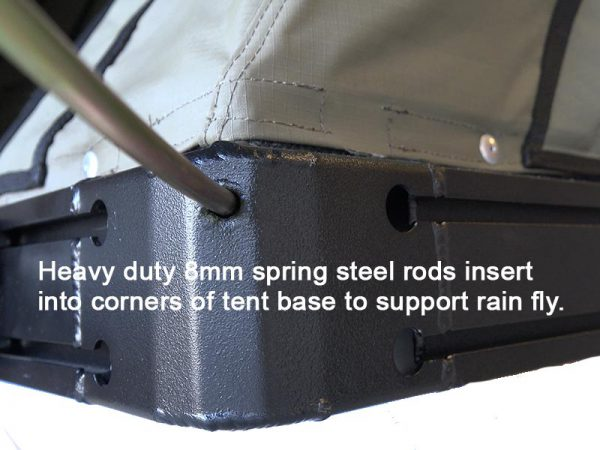 ALPHA Clamshell Rooftop Tent Spring Steel rods attached