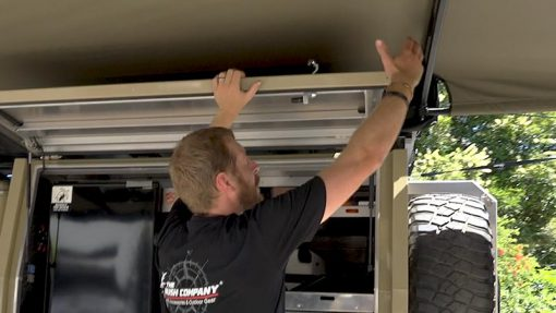 180 XT MAX Awning canopy door clearance